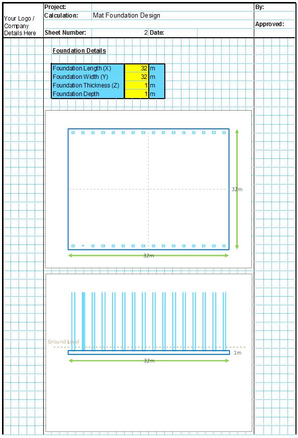 Mat Foundation Design Spreadsheets CivilWeb Spreadsheets – Spread Footing Design Spreadsheet