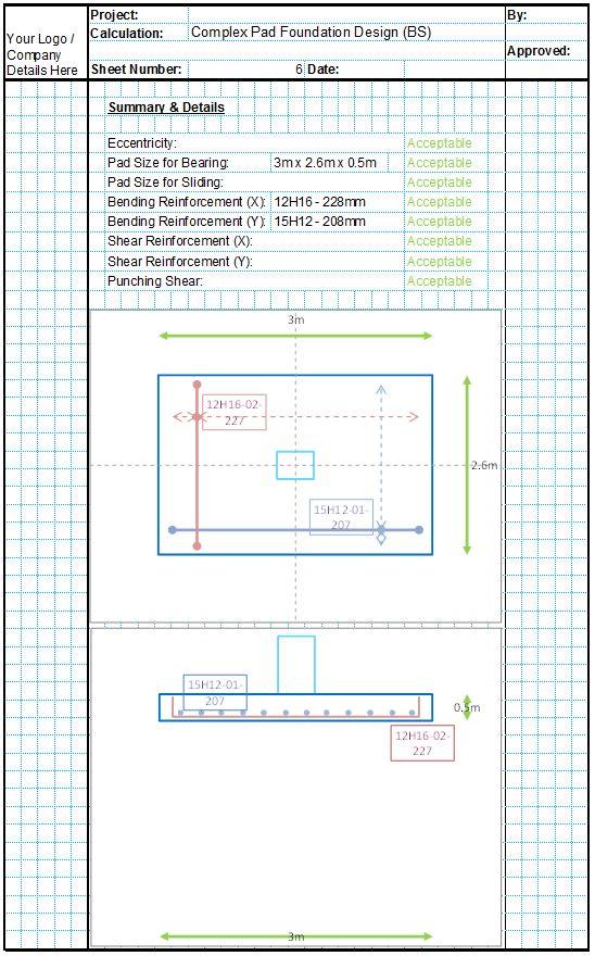 Single Pad Foundation Design Spreadsheet6