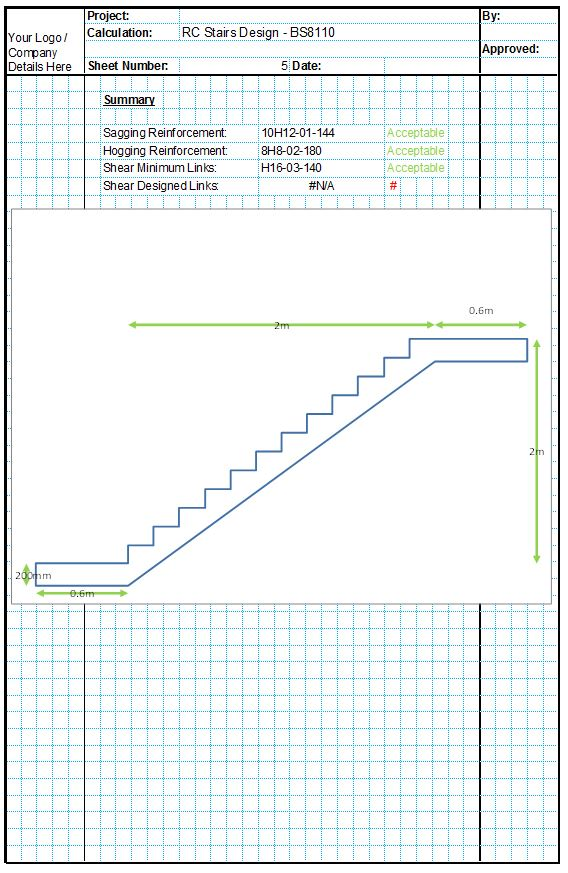Concrete Stairs Design - CivilWeb Spreadsheets